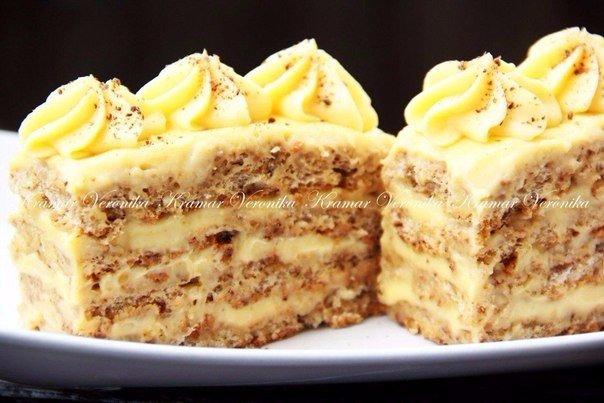 Ореховое пирожное Хочу поделиться удивительным рецептом приготовления наивкуснейших