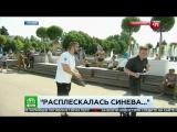 Пьяный десантник ударил корреспондента  в прямом эфире.