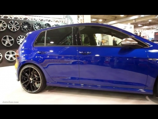 Volkswagen Golf 7R Blue with Tuning Rims MAM
