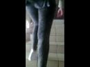 Попка школьницы в джинсах 2