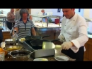 Show cooking Crepes Souzeet in Caravel Hotel Zante. zakinthos Greece.