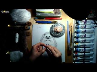Мк по созданию ежика от Nia Kotomi (кукольная конференция)