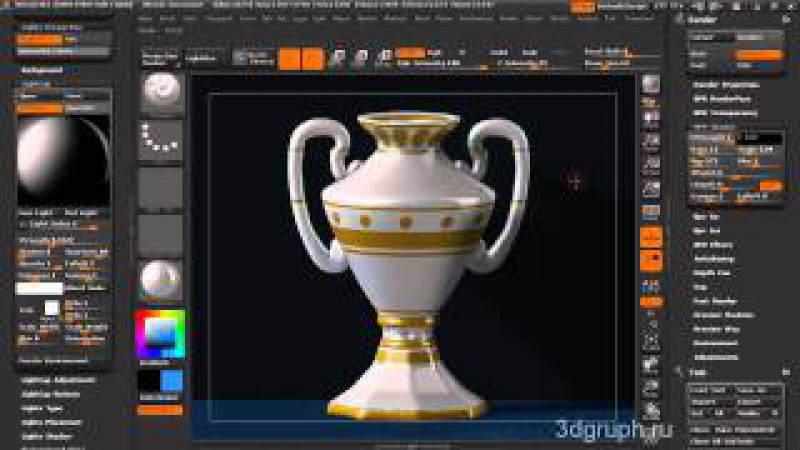 LigteCap and BPR Shadow ZBRUSH 4R2 СВЕТ и ТЕНИ