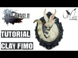 Final Fantasy XV - Carbuncle - Fanart Polymer Clay Fimo Tutorial on Resin Base