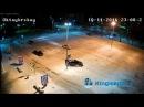 Легковушка ТАРАНИТ джип, а он... Видео момента ДТП с веб-камеры у пожарки в Кингисеппе. KINGISEPP