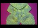 Вязание спицами детский шарфик с двойной петлей 141