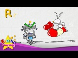 R is for Rabbit, Red, Robot - Letter R - Alphabet Song Learning English for kids