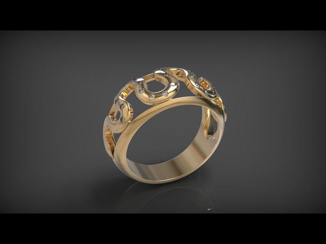 Моделирование кольца в программе Rhino. Ring Snake 3d modelling in Rhinoceros.