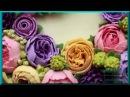 Цветы в подарок Как украсить торт Оформление тортов кремом