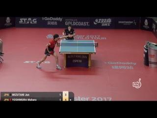 Jun Mizutani vs Yoshimura Maharu (Australian Open 2017)   水谷隼 vs吉村真晴 ( オーストラリア・オープン2017)