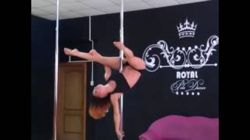 Лис Валерия, красивая комбинация на динамическом пилоне, отдых в стенах Royal Pole Dance