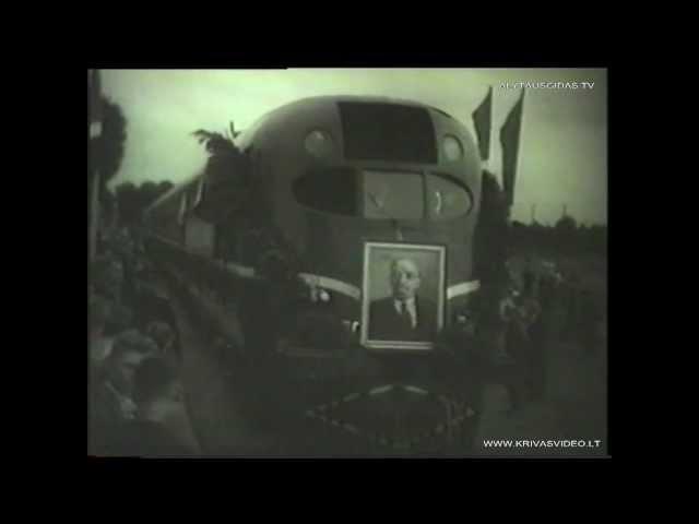 Alytus-Šeštokai geležinkelio atidarymas 1959m
