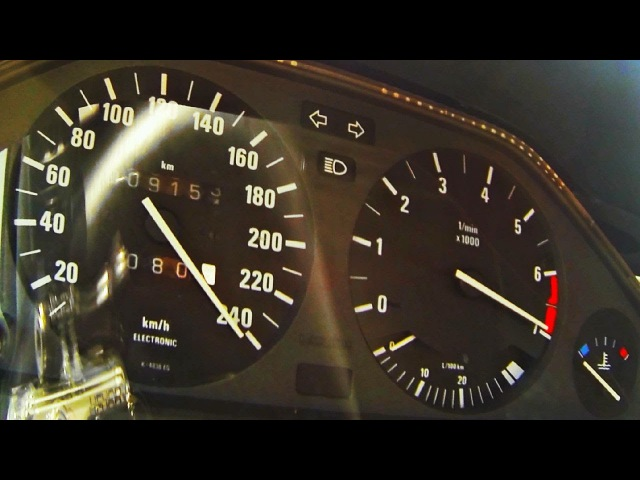 BMW 325i E30 Turbo M50 Acceleration 0-100 0-200 TURBO TEST RUN