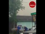 Пожар вдоль Архонской трассы.Горит жилой дом.