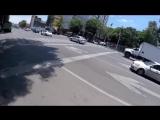 Погоня велосипедиста за убежавшей собакой