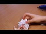 Белый цветок Канзаши к 1 сентября - Банты в Школу - Back to School
