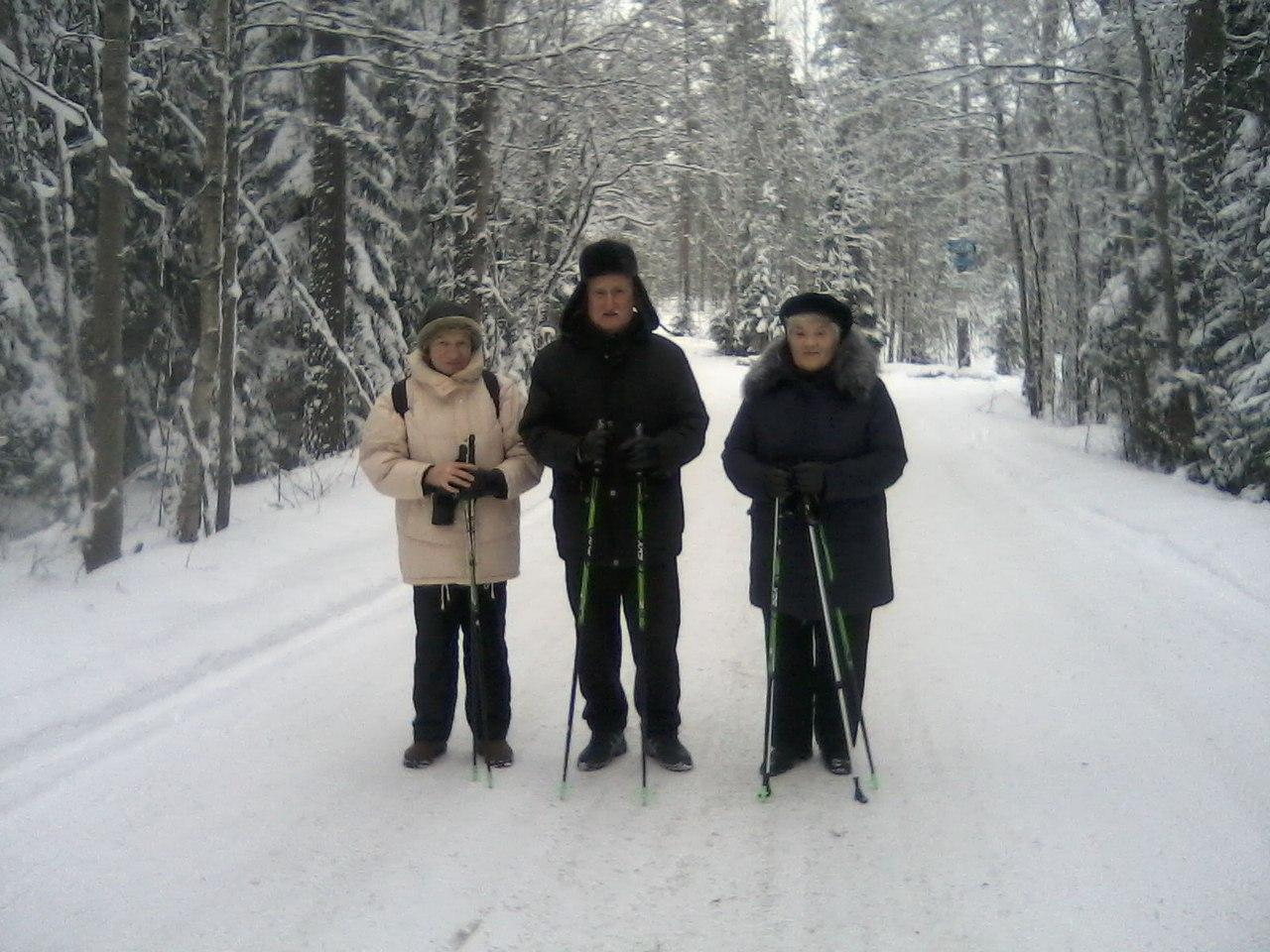 Лыжная стрела. Группа Скандинавской ходьбы «Возрождение»