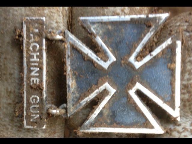 WW2 Metal Deecting/ww2 relics/Sondeln im Wald/US badge and 75mm shells