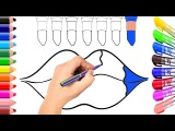 Lip Coloring Page  Learn Colors