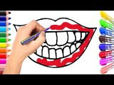 Lip Coloring Page  Learn Colors for Girl