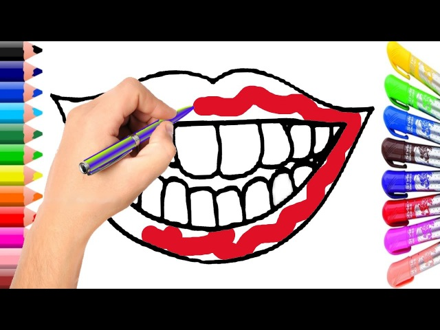 Lip Coloring Page | Learn Colors for Girl