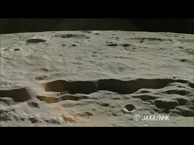 HDTV Images of Antoniadi on the Moon by KAGUYA. It has taken at altitude of 21-22km above the Moon.