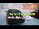 Supercharged Subaru Legacy 3.6R snow drift in Finland 422hp / 520nm POWER!