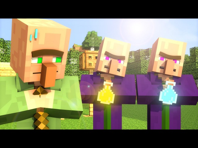 Villager Witch Life 1 - Minecraft Animation