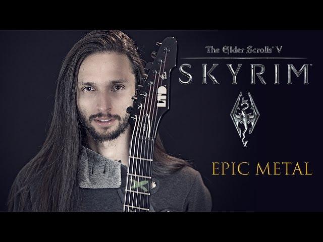 ★ Skyrim: Dragonborn (Dovahkiin) - Metal Theme Song (Guitar) by Srod Almenara