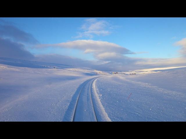 Любителям живописной дороги на поезде Зима Норвегия