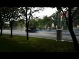 Авария с участием танка на проспекте Независимости в Минске