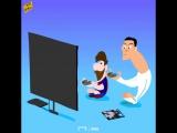 Роналду и Месси играют в FIFA 18