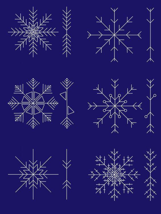снежинки из пва трафареты