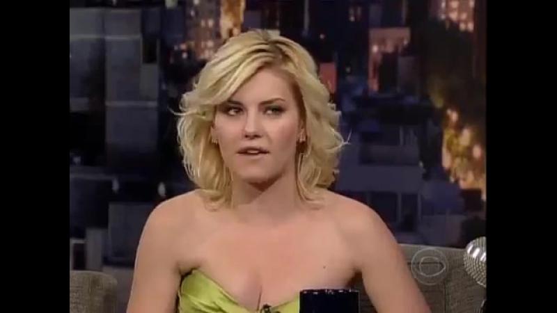 Elisha Cuthbert au Late Show de David Leterman le 5 février 2005