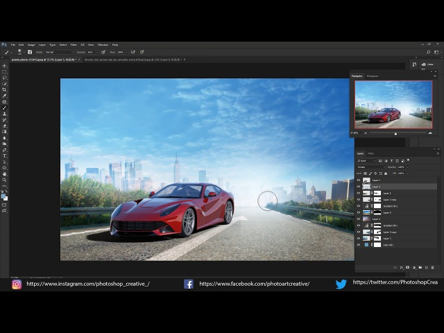 Speed Art - Жажда скорости \ Need for speed 2017 | PhotoshopCreative