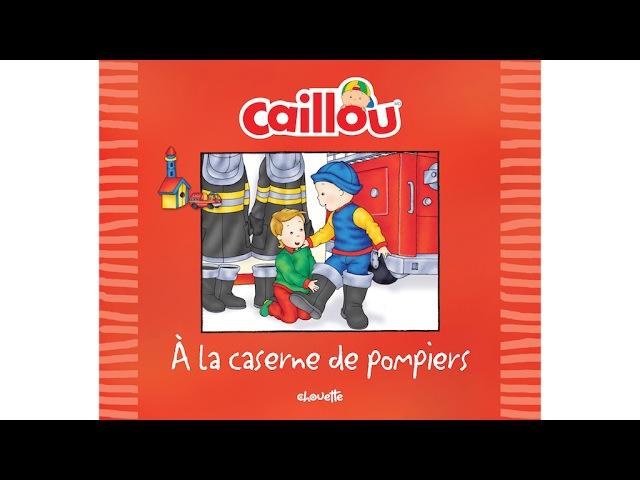 Lecture du livre Caillou à la caserne de pompiers