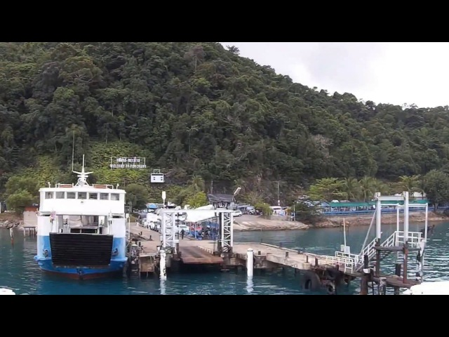 From Trat to Koh Chang by ferry / Time lapse / От Трата до Ко Чанга на пароме