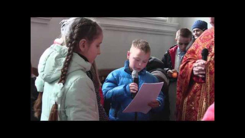 Хресна дорога за участю дітей недільної школи.Храм Божого Милосердя(м.Калуш) 2017