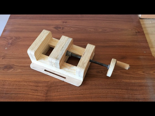 How to Make a Drill Press Vise - El Yapımı Matkap Mengenesi
