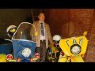 Мотоцикл Урал милицейский жёлто-синий (рассказ реставратора)