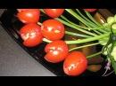 Салат с икрой. Тюльпаны рецепт. Фаршированные яйца.