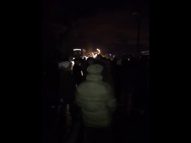 25.01.2017 о 1805 Перекриття дороги на Рясне 2 біля Рясне Руська- рух ускладнено