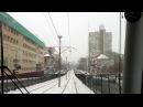 Киев скоростной трамвай 3 весь маршрут вид с кабины/ Kiev speed tram route 3 full view from cabin