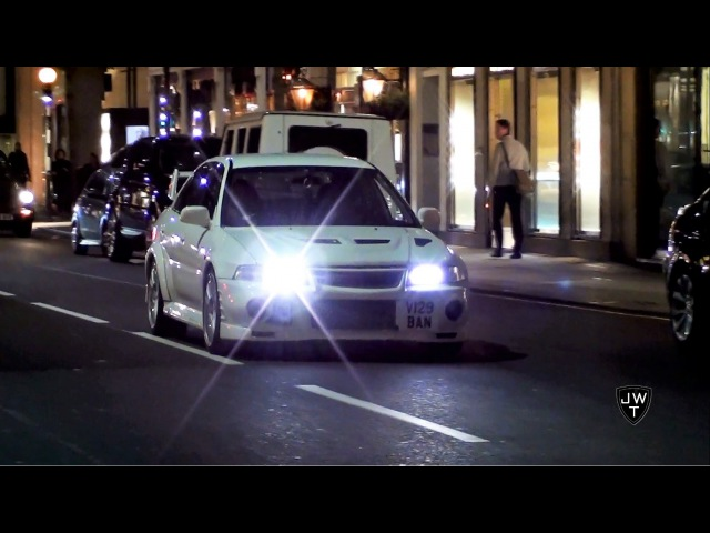 LOUD Mitsubishi Lancer Evolution VI in London! Acceleration SOUNDS!