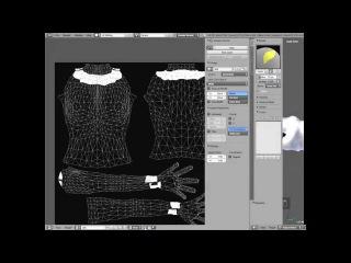 Создания альфы для Second life в Blender(Create alpha to an avatar second life)