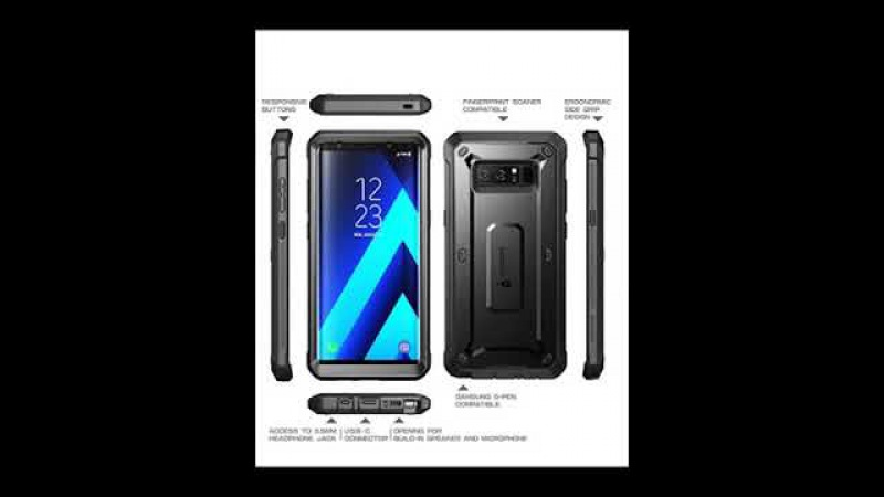 Samsung Galaxy Note 8 Case Full-body Rugged Holster Case Built-in Screen Protector (2017 Release)