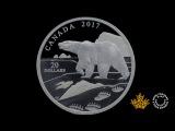 1 oz. Pure Silver Coin  Nature's Impressions Polar Bear (2017)