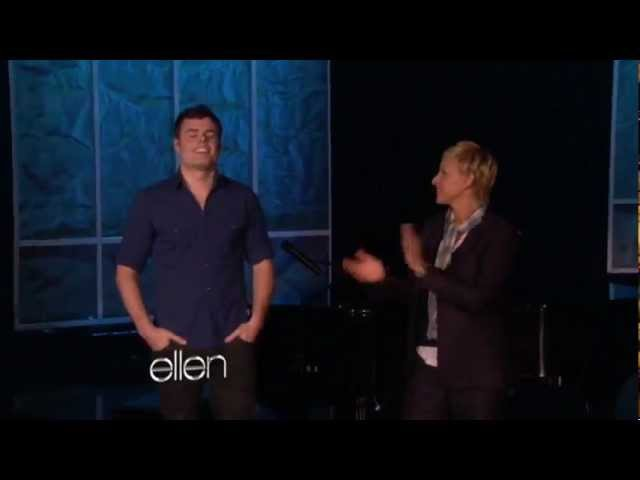 Marc Martel singing Somebody to love live on Ellen Degeneres's show.
