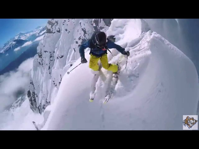 Экстремальный спуск с горы Маттерхорн в Швейцарии