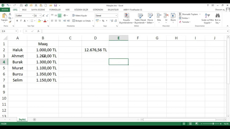 EXL13 04 004 Sayılar ve Finansal Değerler